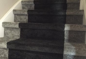 trap bekleed met tapijt in 2 kleuren